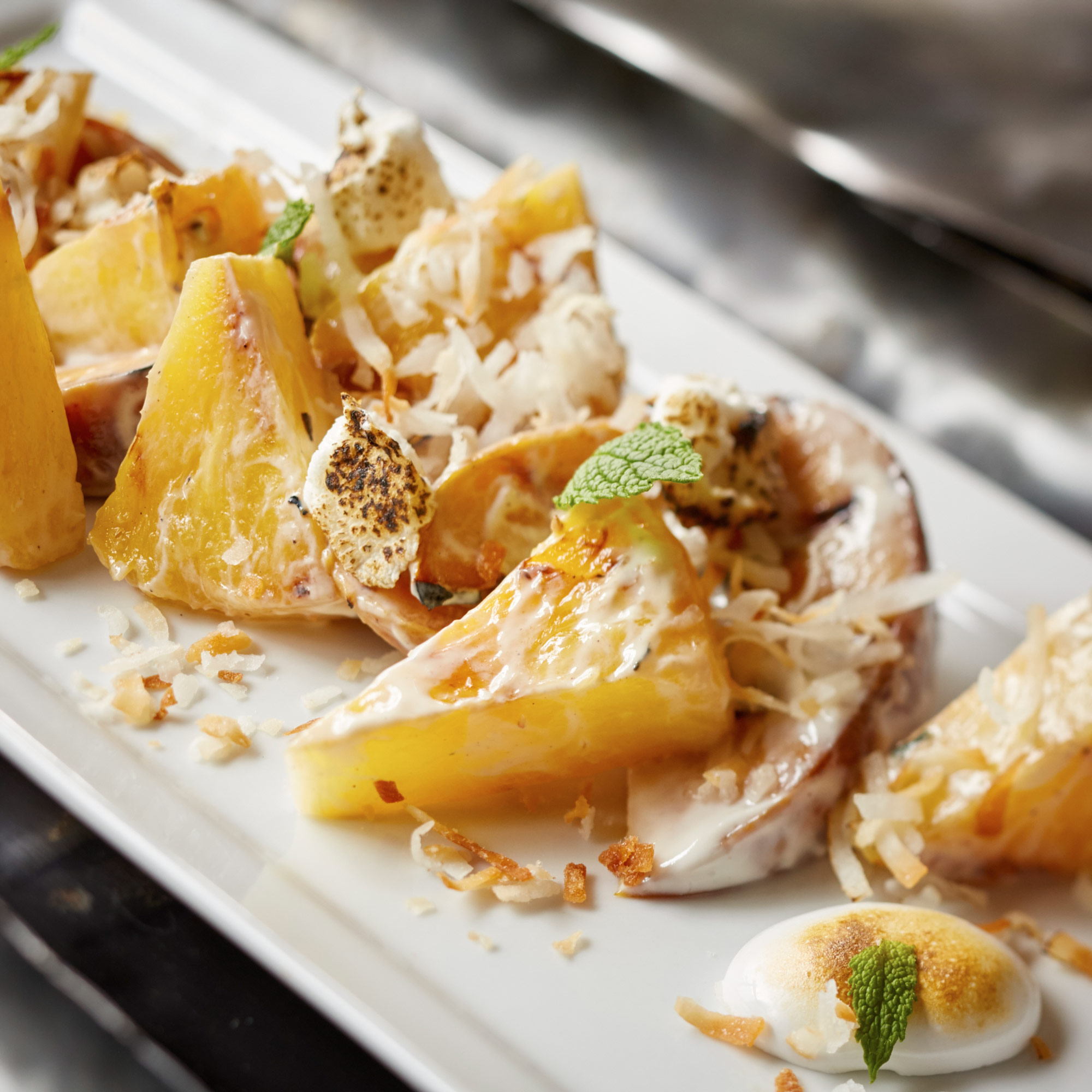 Ambrosia Grilled Peach Pineapple Salad